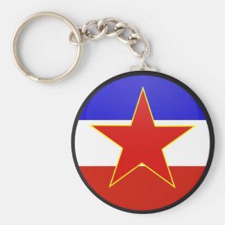 Yugoslavia quality Flag Circle Key Ring