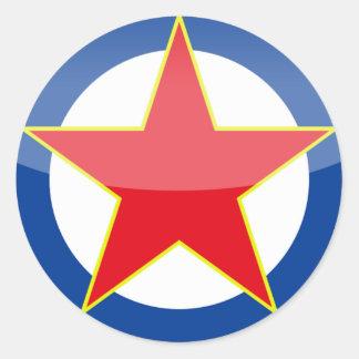 Yugoslavia - retro round sticker