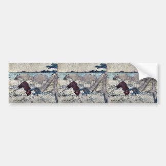 Yui by Katsushika, Hokusai Ukiyoe Bumper Sticker