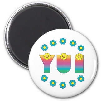 Yui in Flores Rainbow 6 Cm Round Magnet