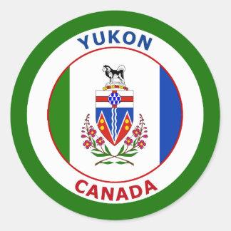 YUKON, CANADA ROUND STICKER