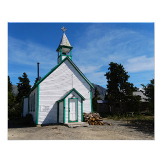 Yukon Church in Carcross, Canada Poster
