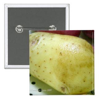 Yukon Gold potato 15 Cm Square Badge