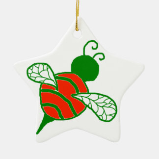 Yule Bees Holiday Star Ornament