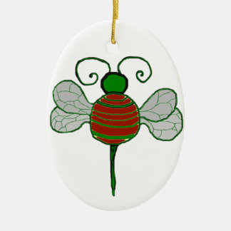 Yule Bees Oval Ornament