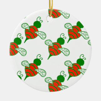 Yule Bees Round Ornament