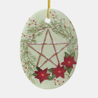 Yule Blessing Christmas Ornament