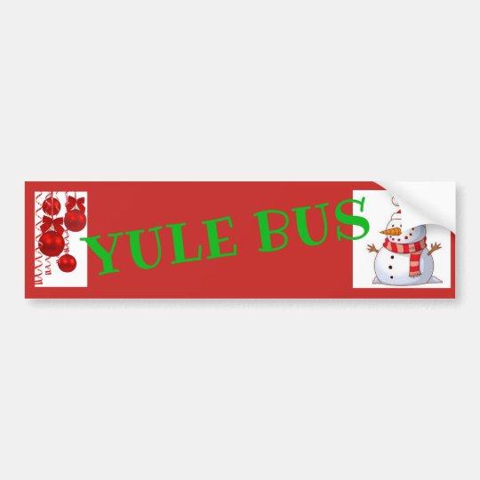 Yule Bus Deco 1 sticker