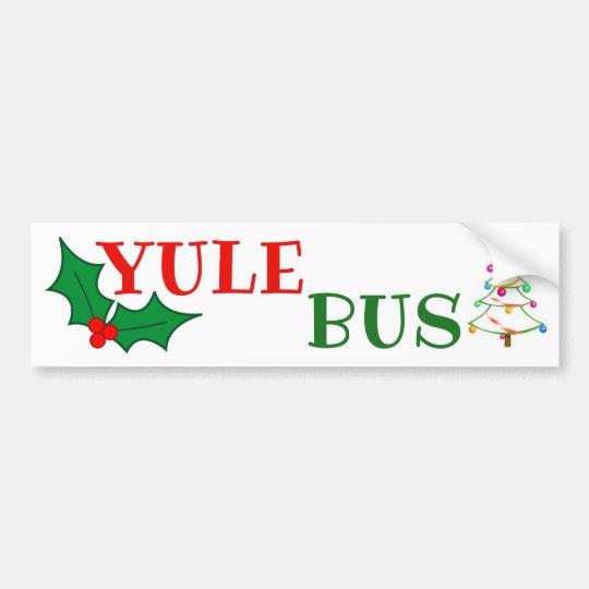 Yule Bus Deco Tree 2 sticker