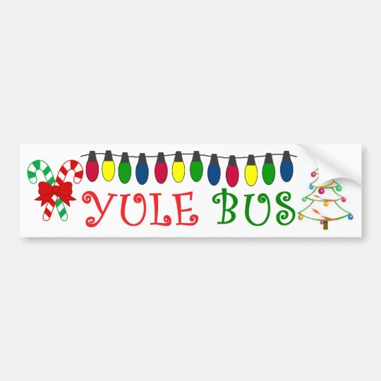 Yule Bus Lights Deco 4 sticker