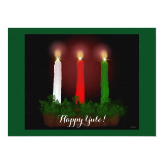 Yule Candles Winter Solstice Witch Wiccan Pagan 14 Cm X 19 Cm Invitation Card
