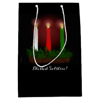 Yule Candles Winter Solstice Witch Wiccan Pagan Medium Gift Bag