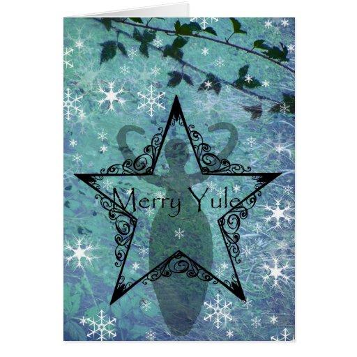yule card goddess