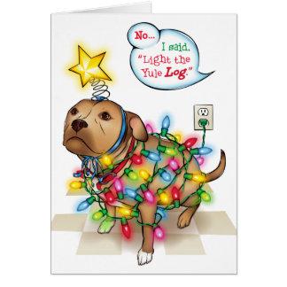 Yule Dog Greeting Card