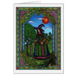 Yule, evergreen two greeting card