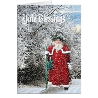 Yule - Father Xmas Card