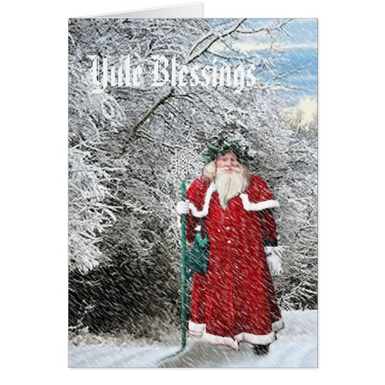 Yule - Father Xmas Card