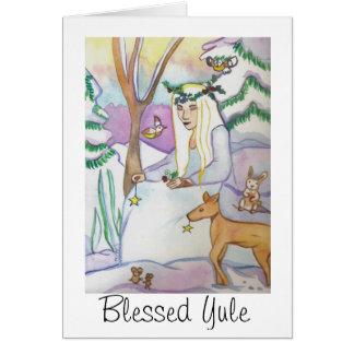 Yule Goddess Greeting Cards