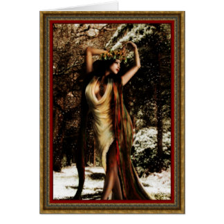 Yule Holly Goddess Card