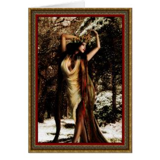 Yule Holly Goddess Greeting Card