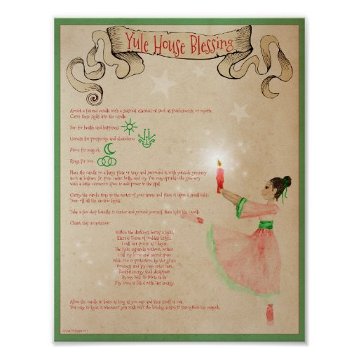 YULE HOUSE BLESSING POSTER