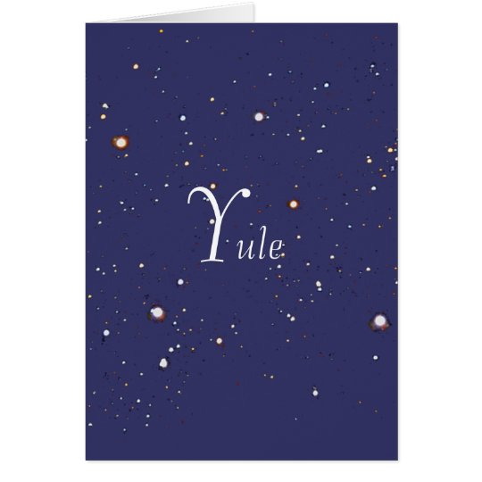 Yule, in the stars card
