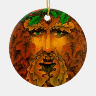 Yule King Round Ceramic Decoration