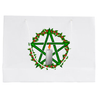 Yule Pentagram Large Gift Bag