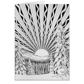Yule Sunrise Greeting Card