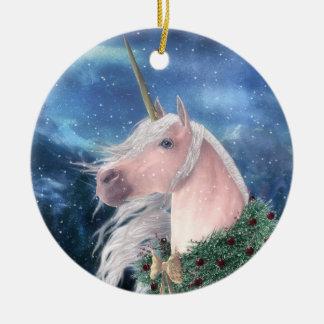 Yule Unicorn Christmas Ornament
