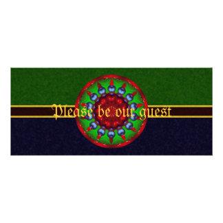 Yule Wheel Kaleidoscope Mandala Personalized Announcement