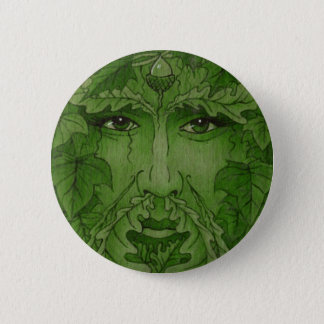 yuleking green 6 cm round badge