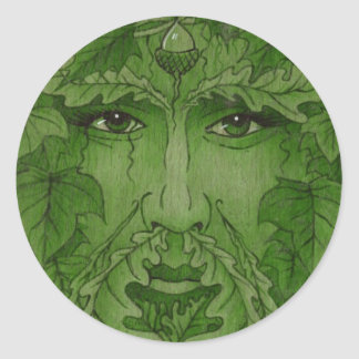yuleking green round stickers