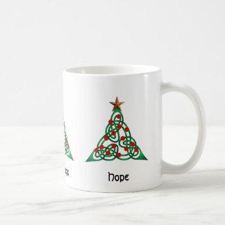 Yuletide Blessings, Greetings, Hope Basic White Mug