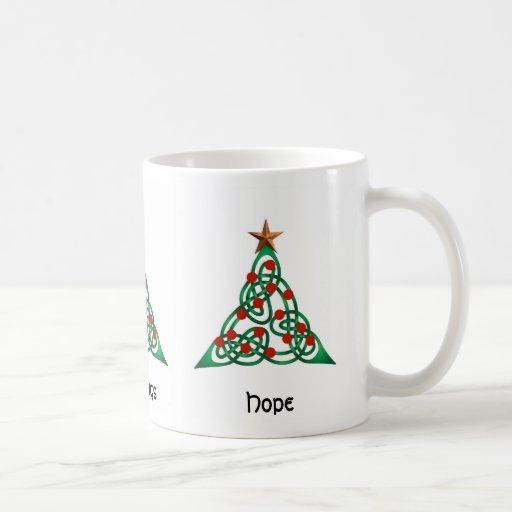 Yuletide Blessings, Greetings, Hope Coffee Mugs
