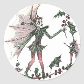 Yuletide Fairy Classic Round Sticker