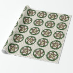 Yuletide Pentacle Gift Wrapping Paper