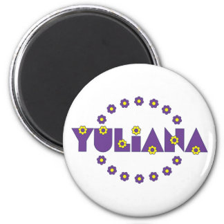 Yuliana in Flores Purple 6 Cm Round Magnet