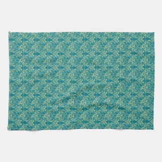 YUM Breakfast Damask Pattern Art Kitchen Towels