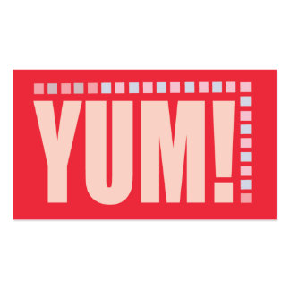 YUM Business Card for catering chefs bakers