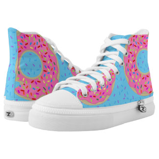 Yum Pink Frosted Donuts Printed Shoes