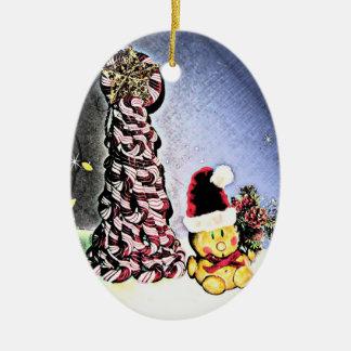 YUM YUM, CANDY CANE CHRISTMAS TREE CHRISTMAS ORNAMENT