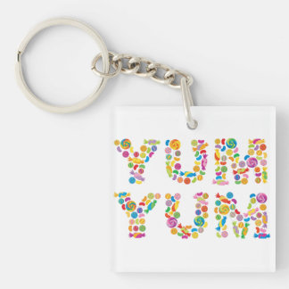 Yum Yum Candy Sweets Key Ring