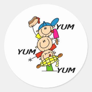 Yum Yum Summer Classic Round Sticker