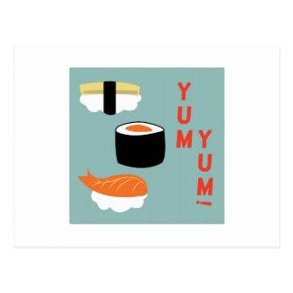 Yum Yum Sushi Post Cards