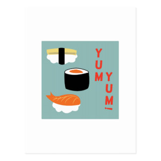 Yum Yum Sushi Postcard
