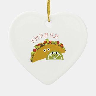 Yum Yum Taco Christmas Ornament