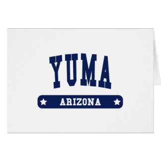 Yuma Arizona College Style tee shirts Greeting Card