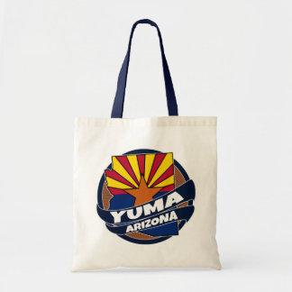 Yuma Arizona flag burst tote bag