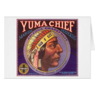 Yuma Chief Orange LabelRedlands, CA Greeting Card